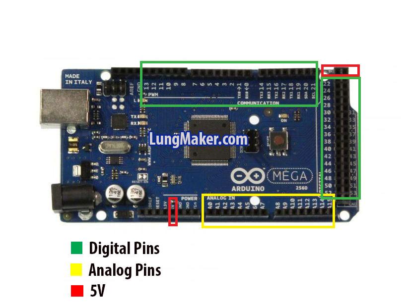 arduino mega 2560 การใช้งาน การใช้งานพินต่างๆของ Arduino MEGA