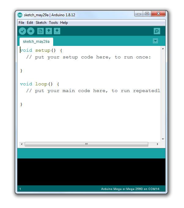 เปิดโปรแกรม Arduino IDE