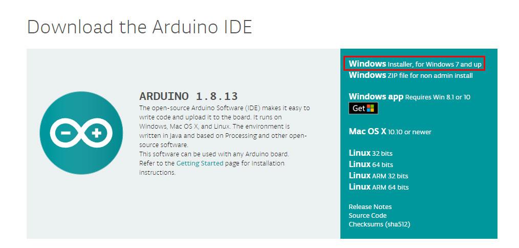 Download ตัวติดตั้ง Arduino IDE