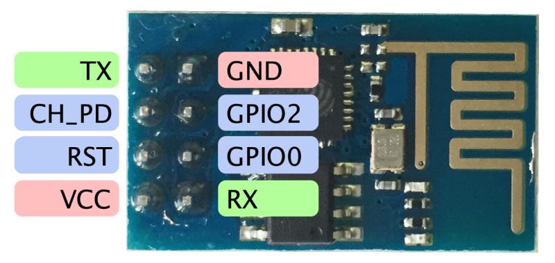 โปรแกรมแรกกับ บอร์ด ESP8266 ESP-01
