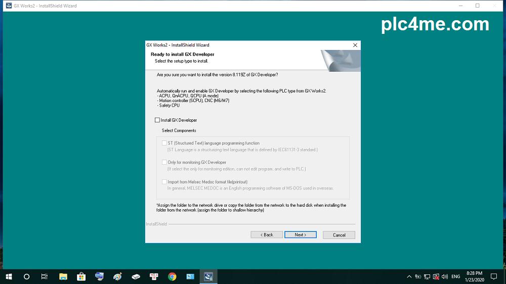 การติดตั้งโปรแกรม GX Works2