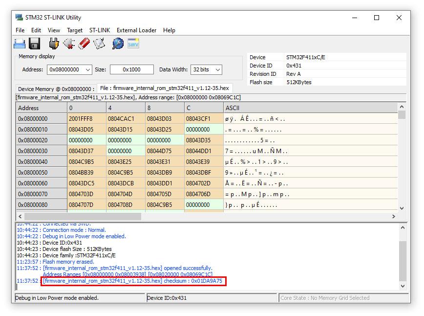 แสดง [firmware_internal_rom_stm32f411_v1.12-35.hex]