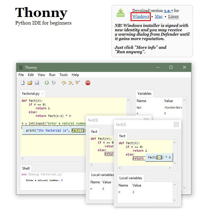 ติดตั้งโปรแกรม Thonny IDE