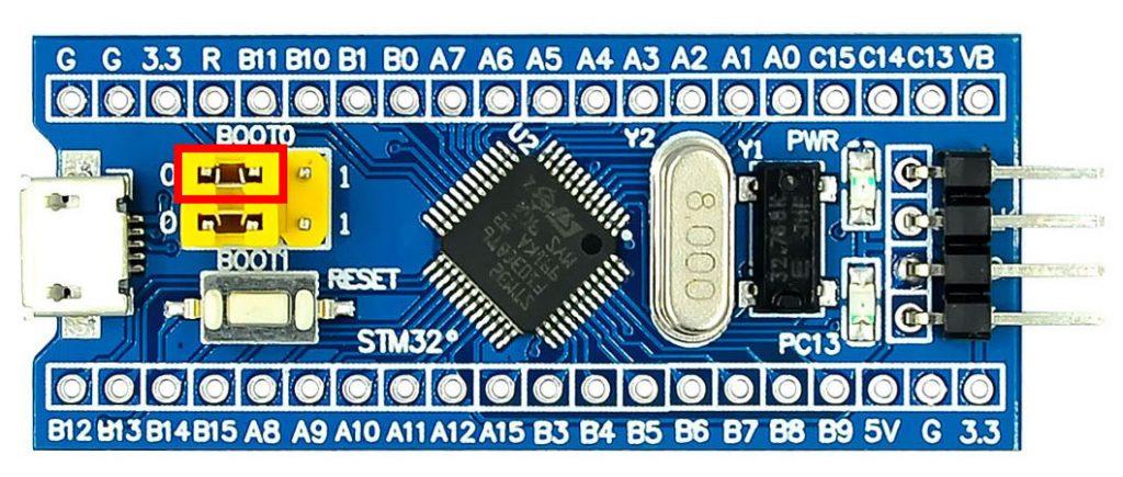 โหมดอัพโหลดโปรแกรม STM32