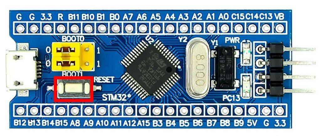 กดปุ่ม RESET STM32 1 ครั้ง