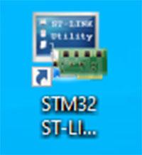 เปิดโปรแกรม STM32 ST-Link Utility