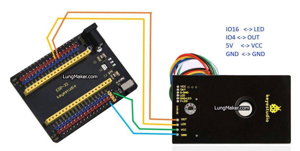เชื่อมต่อ เซ็นเซอร์วัดฝุ่น PM2.5 เข้ากับ ESP32