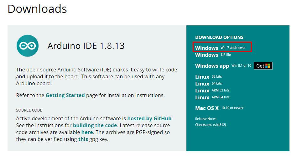 ติดตั้งโปรแกรม Arduino IDE