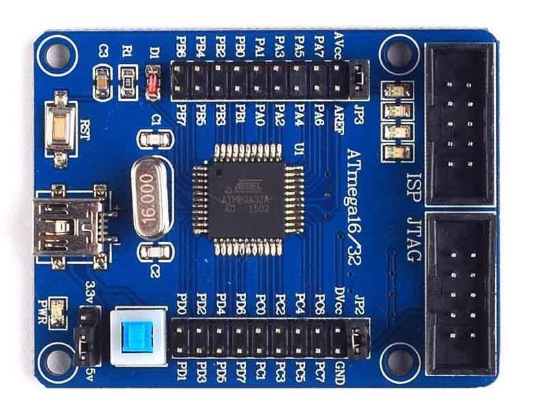 โปรแกรมแรก กับ ATmega32 Board