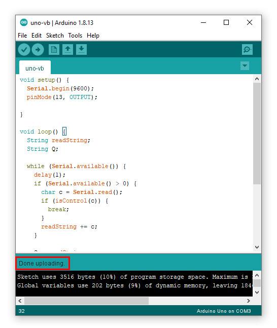 เขียนโปรแกรมควบคุม Microcontroller Arduino ด้วย Visual Basic
