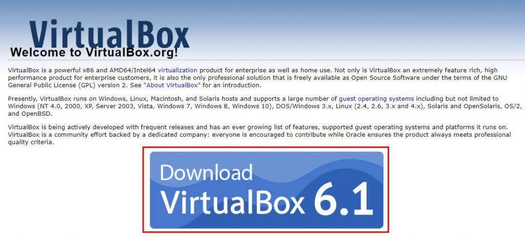 ติดตั้ง VirtualBox
